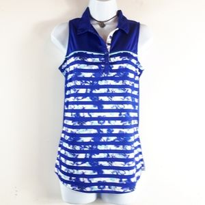 PGA Tour Women's Blue Sleeveless Golf Shirt